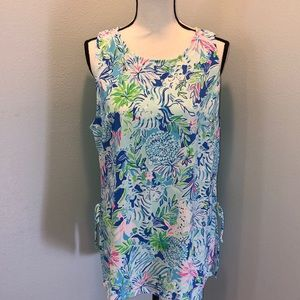 NWT Lilly Pulitzer Donna Top lion around print XL